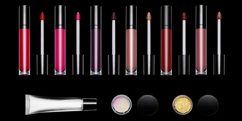 Cosmetics, Red, Pink, Beauty, Product, Lip gloss, Lipstick, Material property, Font, Eye shadow,