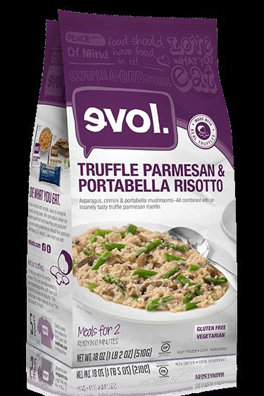 Truffle parmesan portabella risotto
