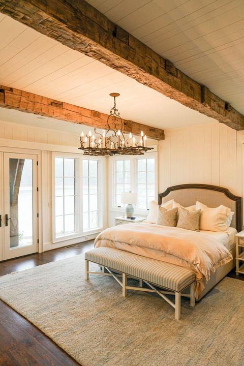 Bedroom, Furniture, Room, Bed, Interior design, Ceiling, Property, Bed frame, Floor, Wall,