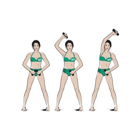 トライセプスフォーマー・リーチ&パルス  トレーニング 引き締め ビキニ