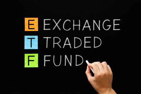 etf  exchange traded fund concept