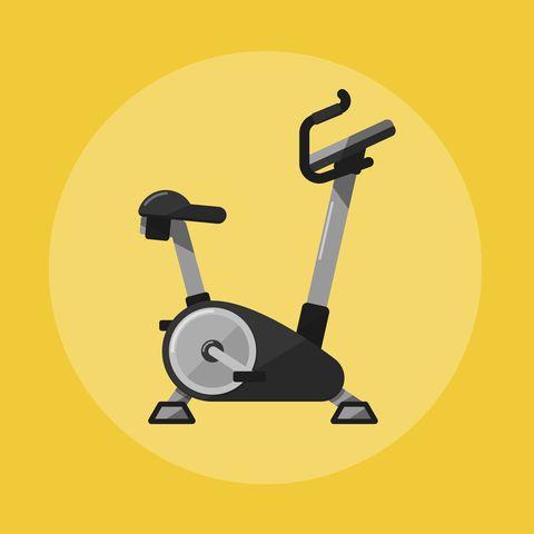 exercise bike gym sports equipment icon