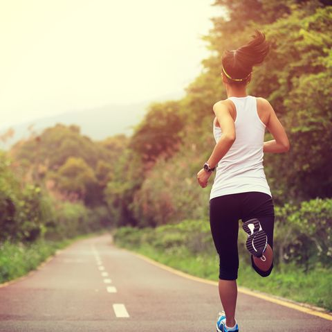 Running, Jogging, Outdoor recreation, Recreation, Morning, Atmospheric phenomenon, Sky, Individual sports, Sports, Exercise,