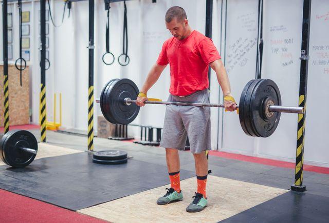 entrenamiento con barra