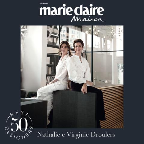nathalie e virginie droulers, guido taroni, best designer 50, marieclaire maison italia, design, aprile 2021