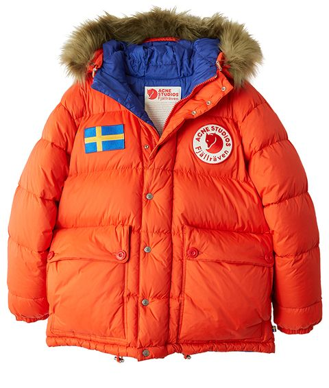Hood, Jacket, Outerwear, Clothing, Orange, Red, Sleeve, Puffer, Parka, Fur,