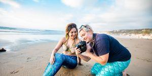Sesión de fotos de sirenas en Airbnb