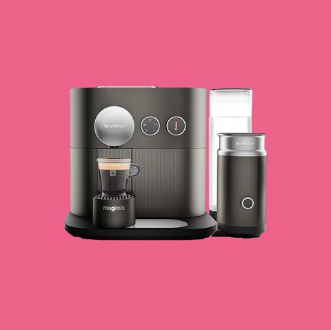 Product, Espresso machine, Pink, Small appliance, Coffee grinder, Home appliance, Drip coffee maker,
