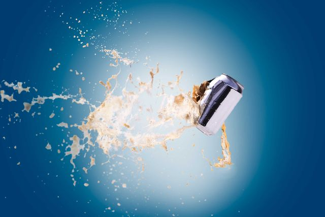 exploding beer can