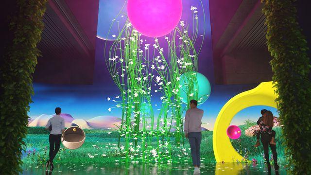 exposición digital interactiva en berlín magenta moon