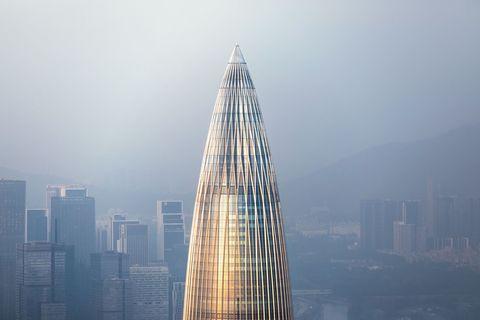 Skyscraper, Metropolitan area, Tower block, Urban area, Landmark, Metropolis, City, Tower, Daytime, Atmospheric phenomenon,