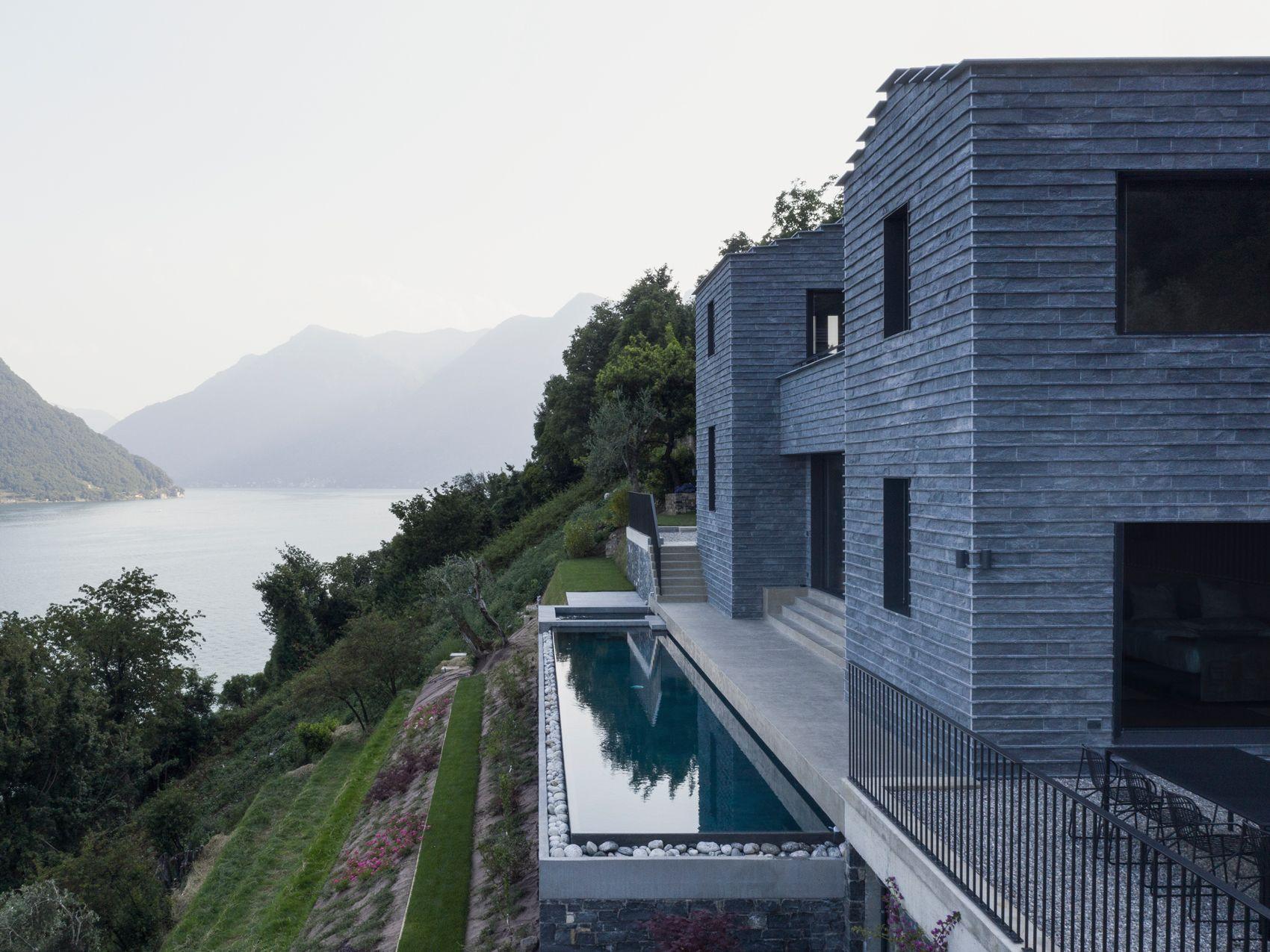 Paesaggi D Acqua Piscine casa molli, la villa con piscina sul lago di como che
