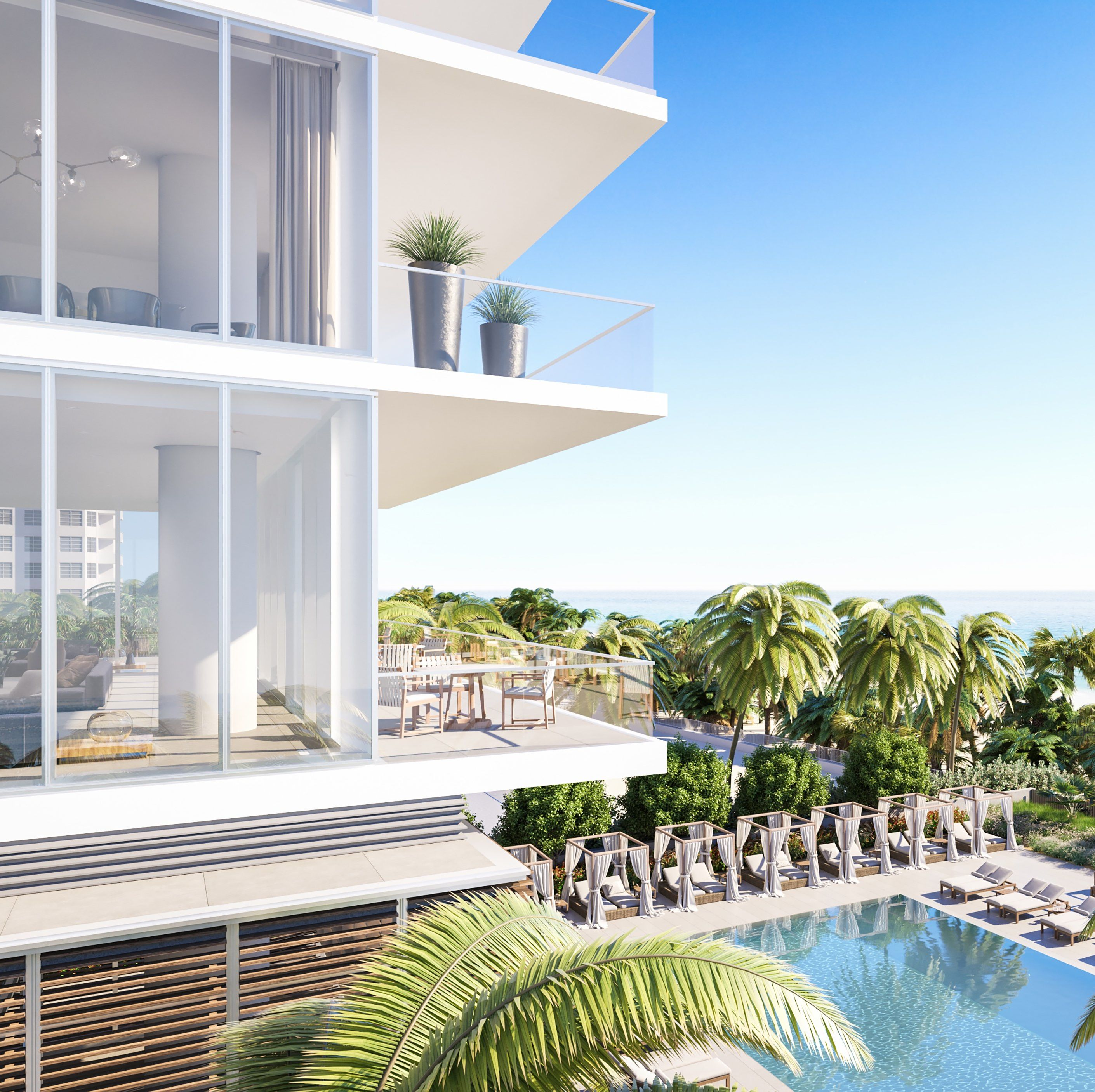 Just Outside Miami, New Development 2000 Ocean Is Redefining Luxury, One Minotti Furnishing at a Time