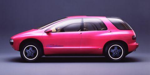 Land vehicle, Vehicle, Car, Automotive design, Red, Luxury vehicle, Pink, Vehicle door, Automotive exterior, Bumper,