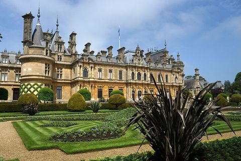 Exterior of Waddesdon Manor.