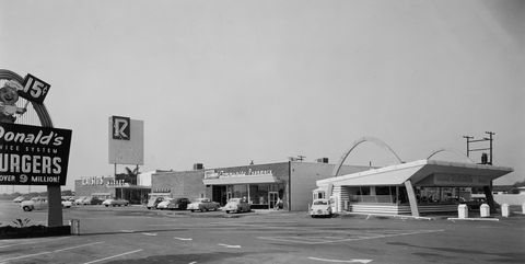 Early McDonald's with Golden Arches