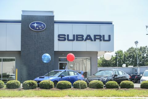 Exterior view of Subaru dealership in Princeton