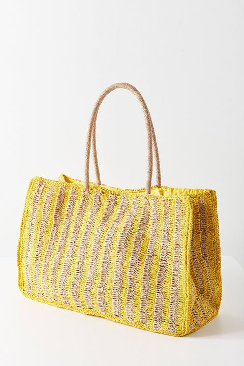 extra large woven tote