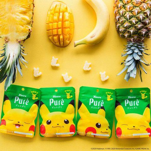 皮卡丘軟糖現在台灣就買得到 pure「皮卡丘造型」限定熱帶水果軟糖