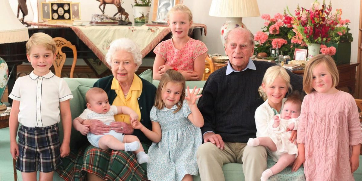 The Royal Family Shares Sweet Photos of Queen Elizabeth, Prince Philip, and Their Great-Grandchildren