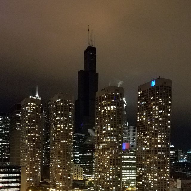 chicago's sears tower without power
