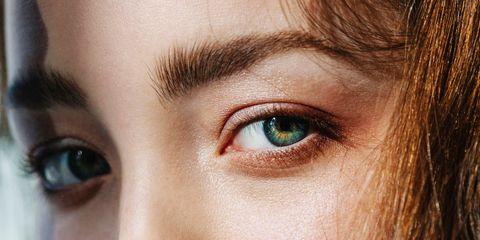 Eyebrow, Face, Eye, Eyelash, Hair, Skin, Forehead, Close-up, Nose, Green,