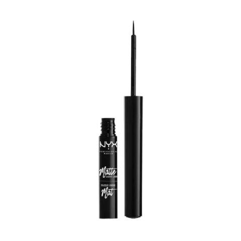 matte liquid liner   black eyeliner   nyx professional makeup eyeliners