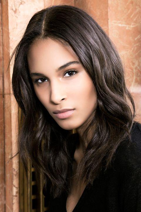 Hair, Face, Eyebrow, Hairstyle, Beauty, Black hair, Lip, Chin, Long hair, Brown hair,