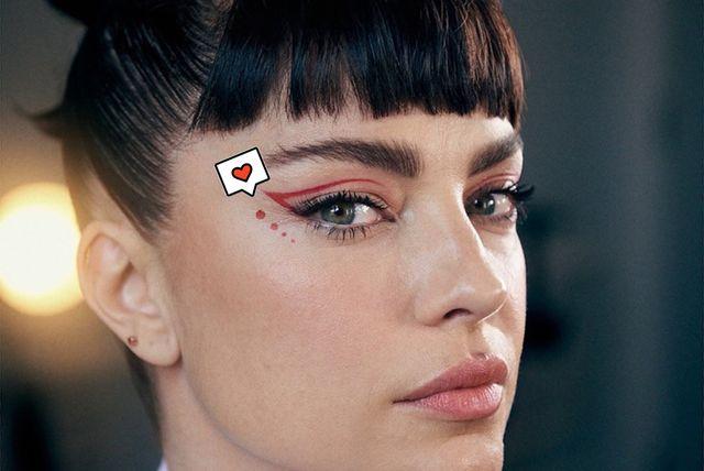 dolores fonzi y el eyeliner de moda