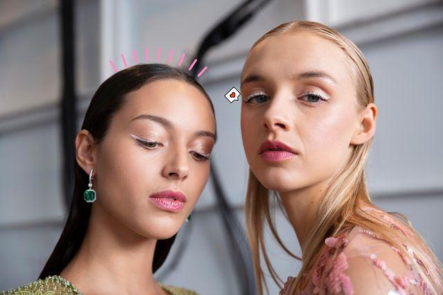 'eyeliner' blanco, el maquillaje de moda del verano 2021