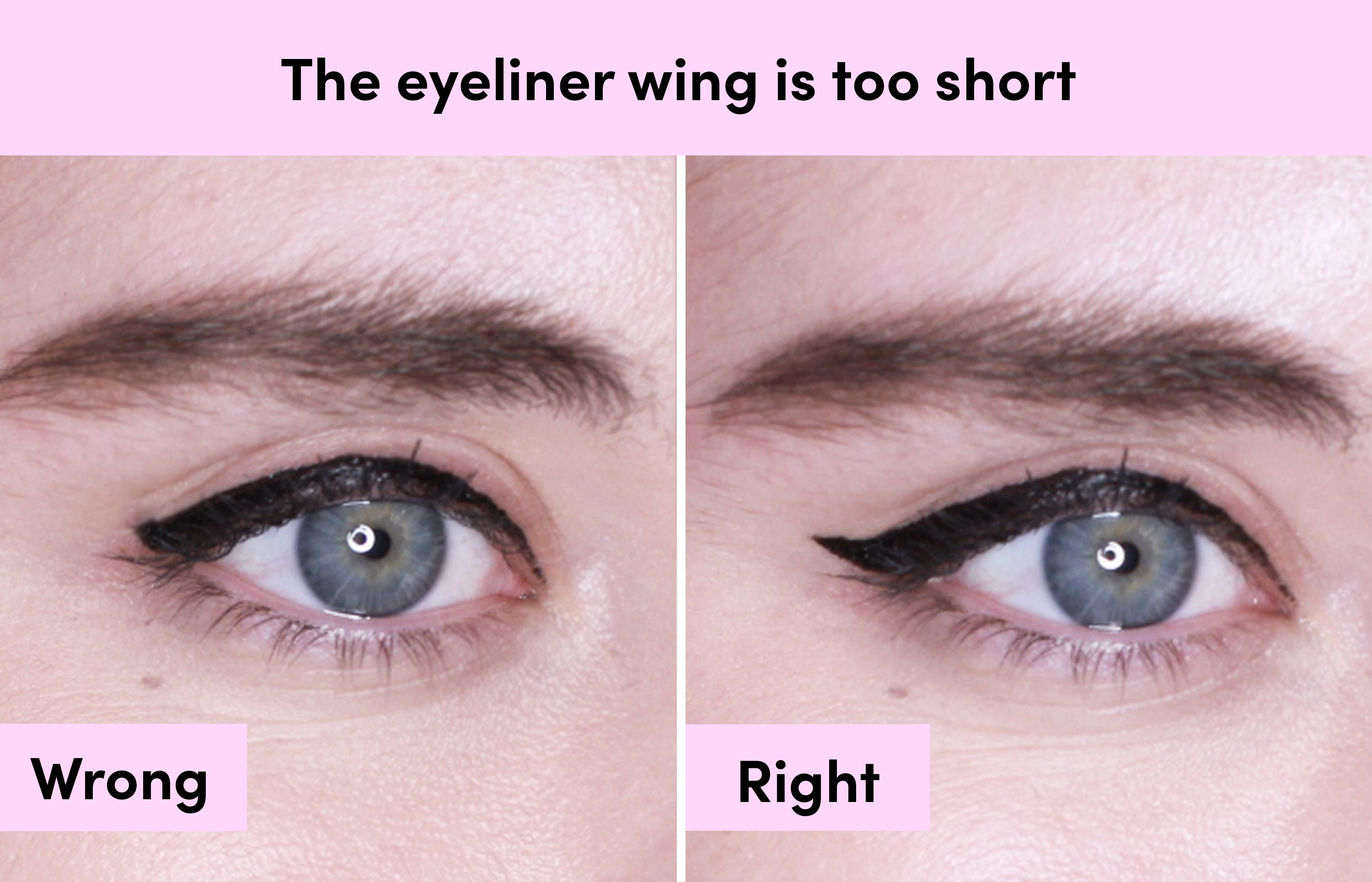 How to apply liquid eyeliner flick