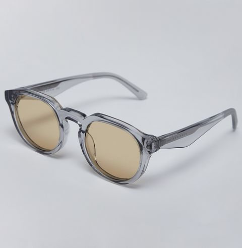 Eyewear, Sunglasses, Glasses, Personal protective equipment, Transparent material, Goggles, Brown, Vision care, Beige, Eye glass accessory,