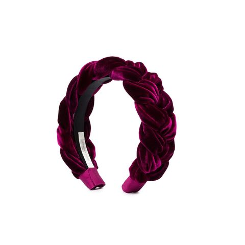 Violet, Pink, Magenta, Fashion accessory, Hair accessory, Scarf, Material property, Headband, Hair tie,