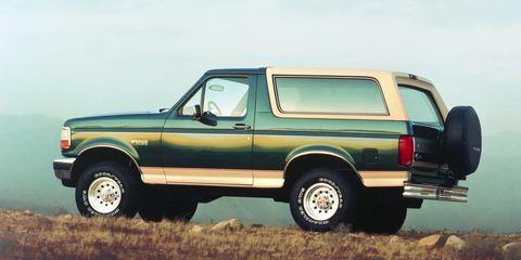 Land vehicle, Vehicle, Car, Motor vehicle, Ford, Classic car, Automotive tire, Sport utility vehicle, Ford bronco ii, Compact sport utility vehicle,