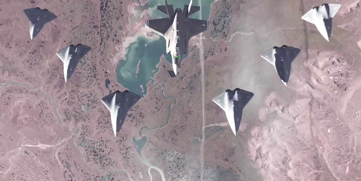 F 35 Teams Up With Drone Wingmen In New Air Force Video
