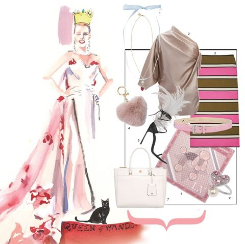 Illustration, Fashion illustration, Pink, Costume design, Fashion design, Dress, Anime, Fashion designer, Style, Art,