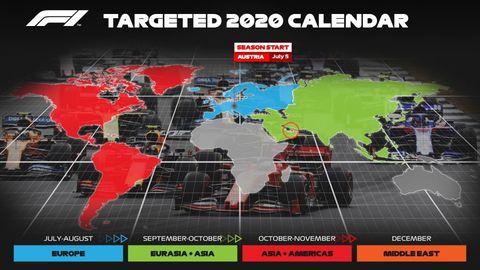 2020 f1 calendar
