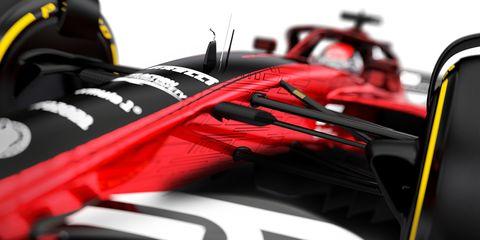 Red, Formula one, Formula racing, Formula one car, Race car, Vehicle, Indycar series, Car, Tire, Formula one tyres,