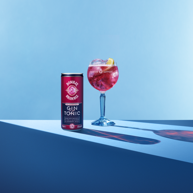 bombay sapphire bramble gin and tonic cans