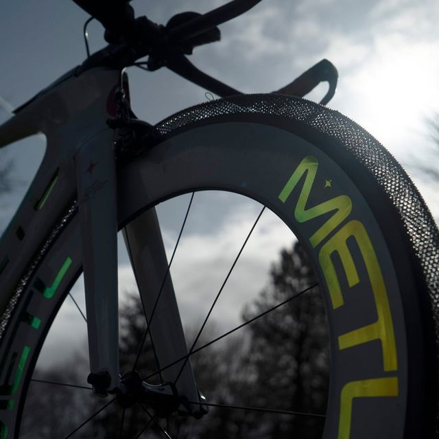 ruedas de bicicleta de metal sin aire para el ciclismo