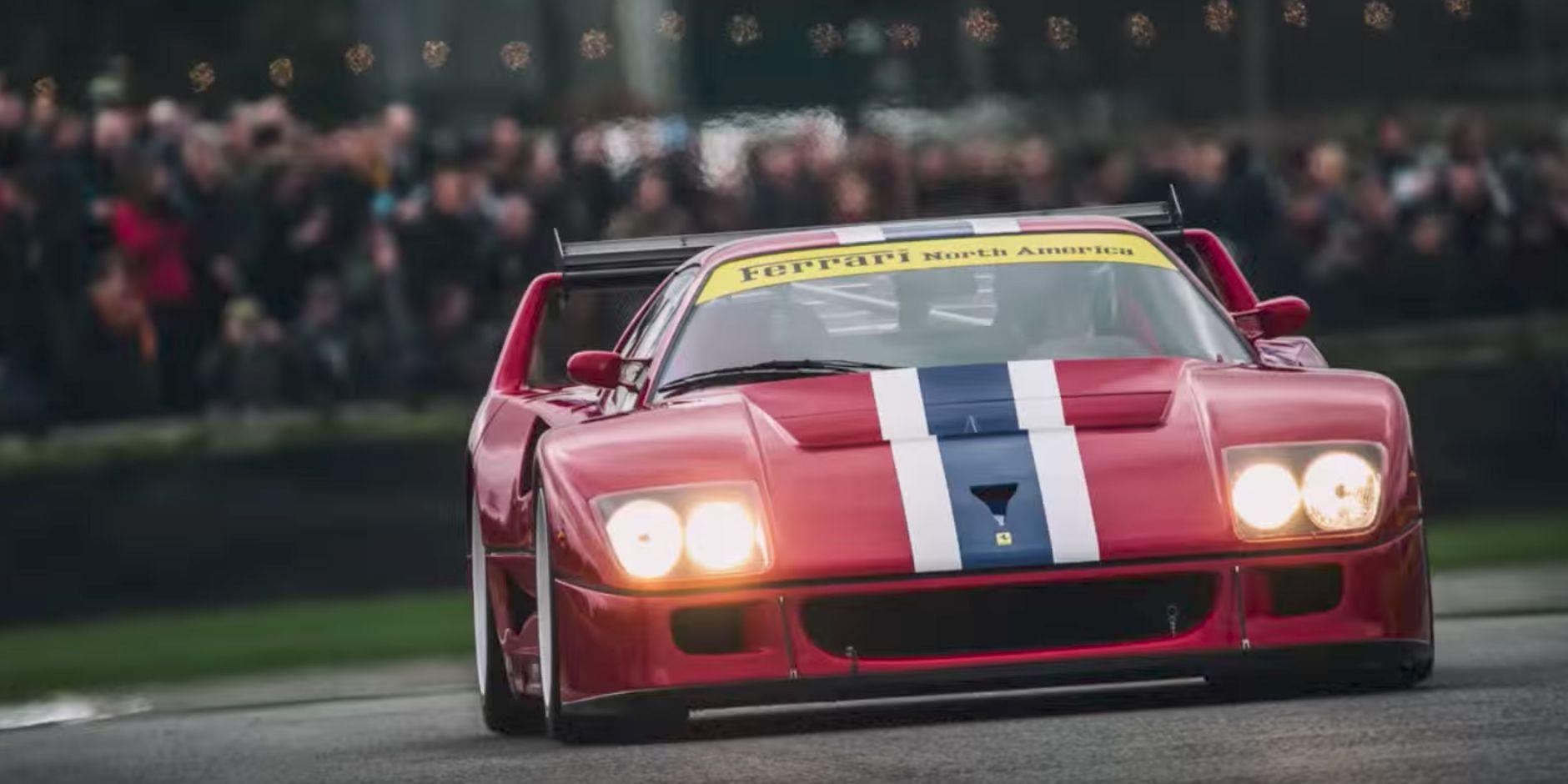 Driving A Ferrari F40 Lm Looks Like A Handful