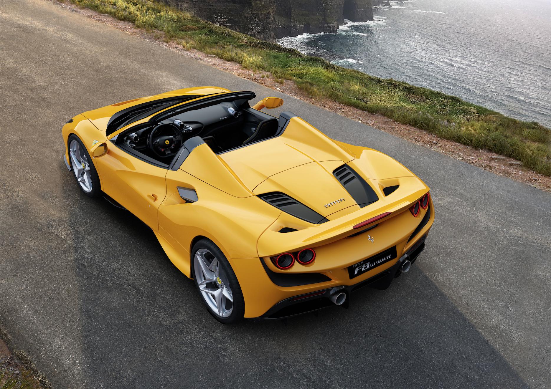 The 2020 Ferrari F8 Spider Is 710 HP of Twin-Turbo V-8 Fury