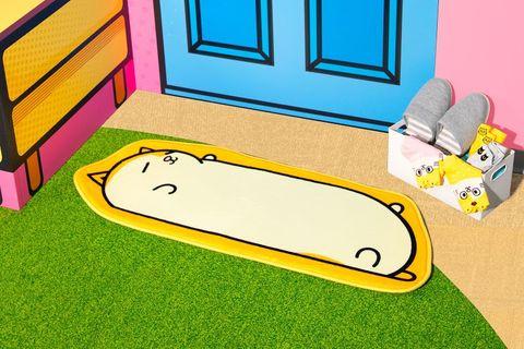 黃色的黃阿瑪來踩我吸水地墊
