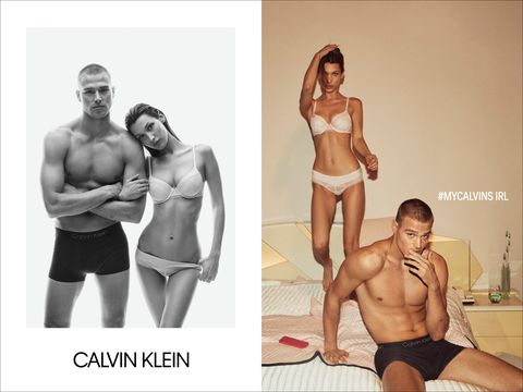 Imágenes de la campaña AW de Calvin Klein Under Wear.