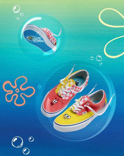 vans x 海綿寶寶聯名帆布鞋