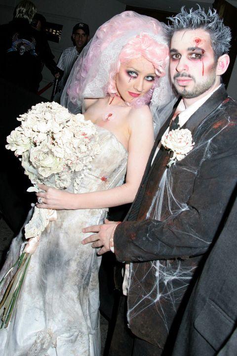 Christina Aguilera and Jordan Bratman Halloween 2006