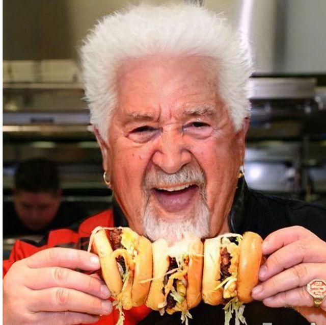 Junk food, Food, Wrinkle, Chef, Grandparent, American food, Cuisine, Fast food, Dish, British cuisine,