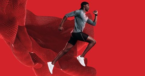 Red, Footwear, Running, Recreation, Shoe, Muscle, Sprint, Fictional character, Athletics, Illustration,