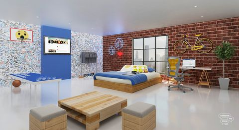 Facebook bedroom design