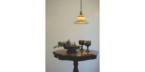 Light fixture, Table, Lighting, Yellow, Lamp, Furniture, Room, Lighting accessory, Interior design, Lampshade,